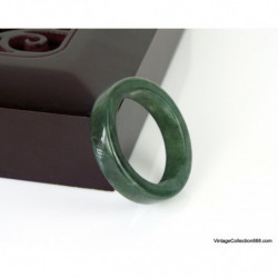 Jadeite Jade Bangle Fei Cui 翡翠 Green hand carved 56 mm WH312