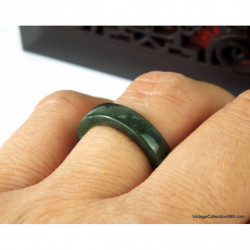 Jadeite Jade Bangle Fei Cui 翡翠 Green hand carved 60 mm WH310
