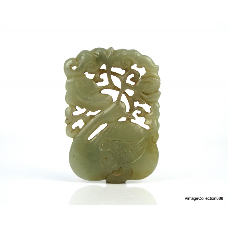 100% Natural Jadeite Jade Ring ( A Grade ) *** Untreated *** translucent green with brown US 12 JR125031