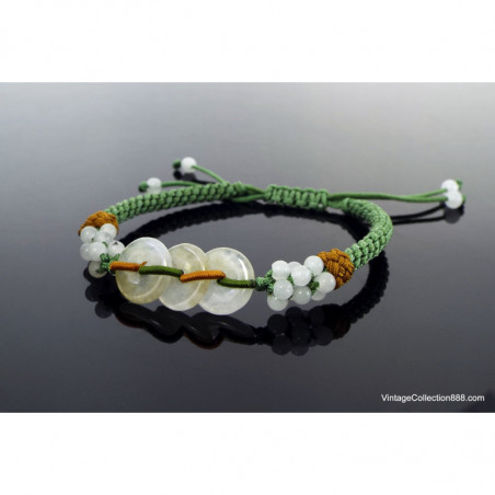 Jadeite Jade Bangle Fei Cui 翡翠 Green and Lavender hand carved 56mm