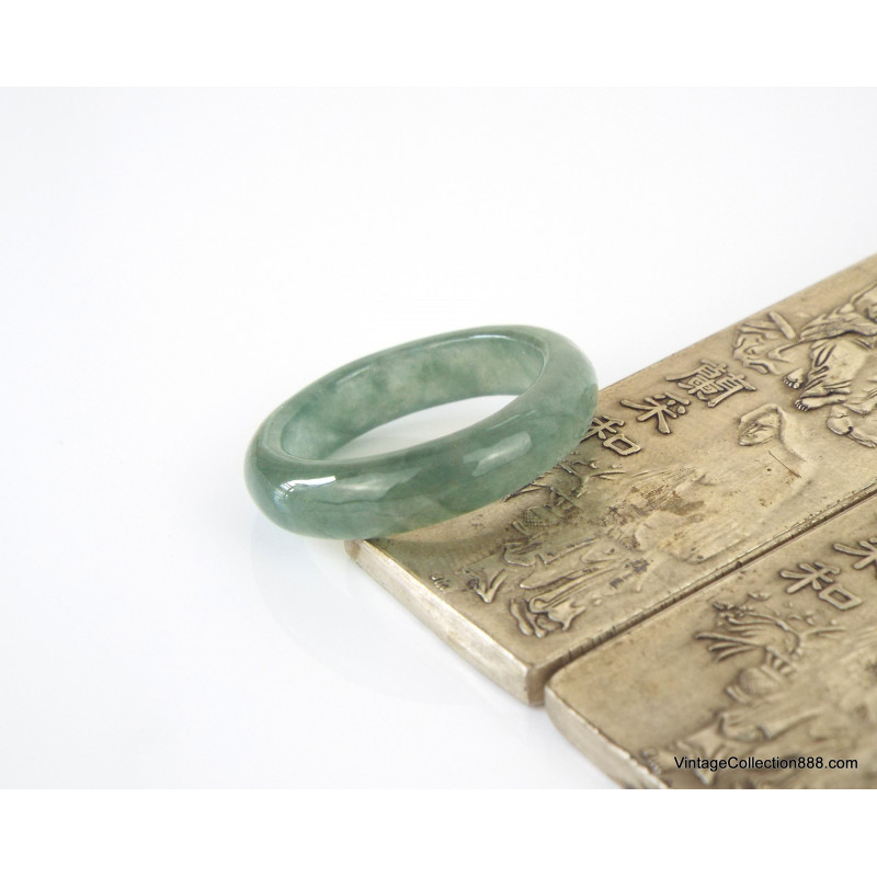 Jadeite Jade Bangle Fei Cui 翡翠 Lavender, Green and White hand carved 59 mm WH306