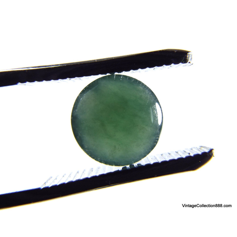 "Authentic Jade jadeite Grade A Bangle Fei Cui 翡翠 Green hand carved 59.5 mm-2.44"" WH34, Yet"