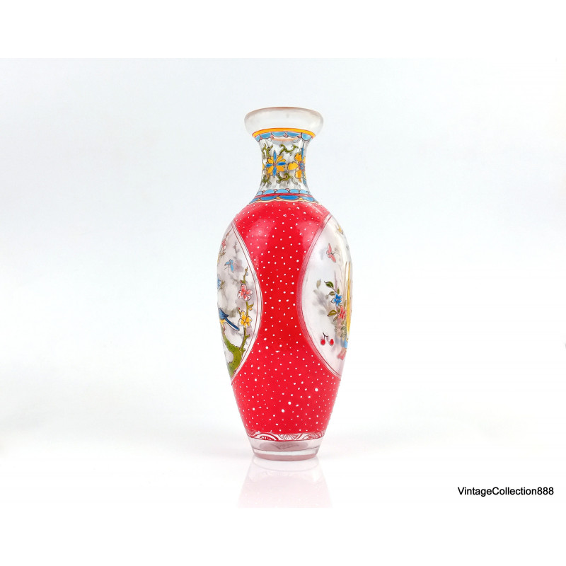 Little Chinese OX horns libation Tea Bowl Exquisite Hand-carved brave troops carving - HORN6